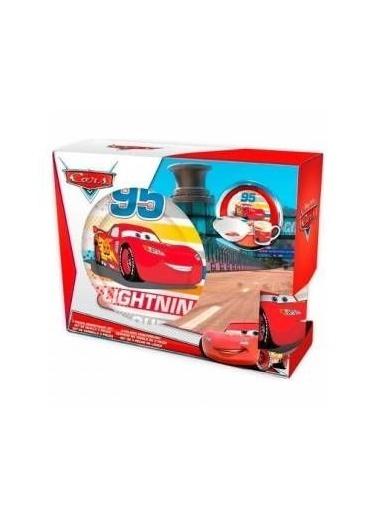 Bayev 3`lü Lisanslı Porselen Çocuk Mama Seti - Cars (Özel Kutusunda) Renkli